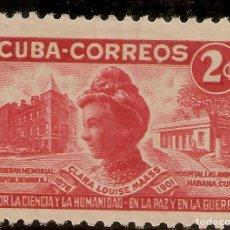 Timbres: REPÚBLICA DE CUBA EDIFIL 453* MH 2 CENTAVOS ROJO 50 ANIVERSARIO CLARA LOUISE MAAS 1951 NL1581. Lote 207224375