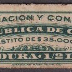 "Selos: ""REP-472 CUBA REVENUE 3C TOBACCO TABACO PICADURA MEDIA LIBRA."". Lote 209272376"