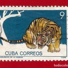 Timbres: CUBA. 1964. ZOOLOGICO DE LA HABANA. TIGRE. Lote 210594731