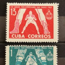 Sellos: CUBA, JUEGOS PANAMERICANOS 1963 MNH (FOTOGRAFÍA REAL). Lote 211458956