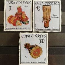 Sellos: CUBA, INSTRUMENTOS MUSICALES FOLKLORICOS 1972 MNH (FOTOGRAFÍA REAL). Lote 211463970