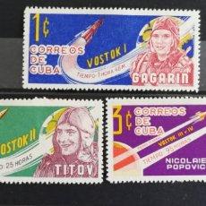 Sellos: CUBA, ASTRO FILATELIA 1963 MH (FOTOGRAFÍA REAL). Lote 211465042