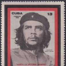 "Sellos: ""1968.101 CUBA 1968 MNH PRIMER ANIVERSARIO MUERTE ERNESTO CHE GUEVARA."". Lote 211485870"
