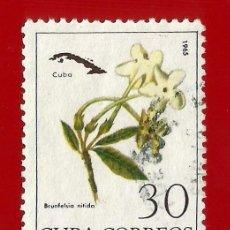 Sellos: CUBA. 1965. FLORES. BRUNSELFIA NITIDA. Lote 211496567