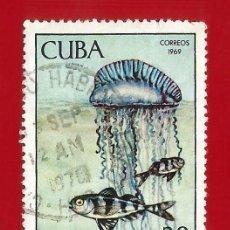 Timbres: CUBA. 1969. PECES Y MEDUSA. Lote 211497704