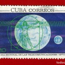 Sellos: CUBA. 1970. DIA MUNDIAL DE LAS TELECOMUNICACIONES. Lote 211498980