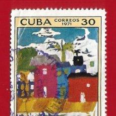 Sellos: CUBA. 1971. DIBUJOS INFANTILES. PAISAJE. Lote 211499270
