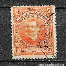 Francobolli: CUBA, TELÉGRAFOS, 1910, YVERT 85, USADOS. Lote 213217048