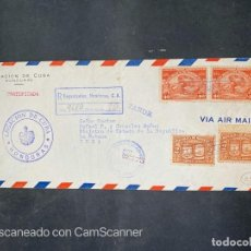 Sellos: SOBRE DE LA LEGACION DE CUBA EN HONDURAS AL MINISTRO DE ESTADO DE CUBA. VER. Lote 213536227