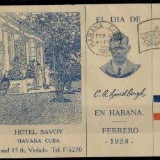 Timbres: CUBA, LINDBERGH EDIFIL 233, IVERT A. 2. NUEVO, NUEVO BORDE DE HOJA Y SOBRE PRIMER DIA. Lote 217762958