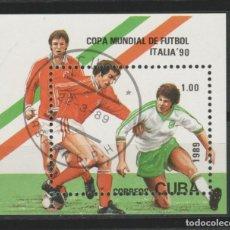 Timbres: LOTE (17) SELLO HOJA CUBA TEMA FUTBOL. Lote 218001861
