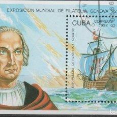 Selos: LOTE (17) SELLO HOJA CUBA TEMA CRISTOBAL COLON. Lote 218001986