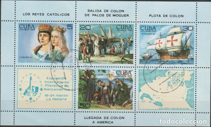 LOTE (17) SELLOS HOJA CUBA TEMA CRISTOBAL COLON (Sellos - Extranjero - América - Cuba)