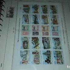 Francobolli: CUBA. PLANCHA 20 SELLOS DESCUBRIMIENTO DE AMÉRICA 1986 -7. EN HOJA FILABO. SIN CIRCULAR. DANI. Lote 219107941