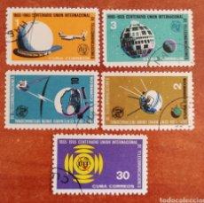 Sellos: CUBA, CENTENARIO DE LA UNIÓN INTERNACIONAL DE TELECOMUNICACIONES 1965 (FOTOGRAFÍA ESTÁNDAR ). Lote 284492388