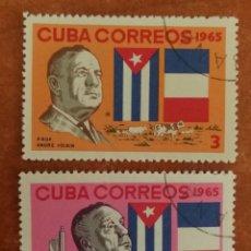 Sellos: CUBA, ANDRE VOISIN 1965 USADA (FOTOGRAFÍA REAL). Lote 220261187