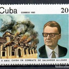 Francobolli: 2758 CUBA 1982 MNH THE 10TH ANNIVERSARY OF THE DEATH OF SALVADOR ALLENDE, PRESIDENT OF CHILE STATE L. Lote 220907282