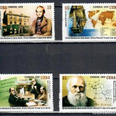 Sellos: 5231 CUBA 2009 MNH THE 200TH ANNIVERSARY OF THE BIRTH OF CHARLES DARWIN, 1809-1882 SHIPS, SCIENTISTS. Lote 220908332
