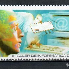 Francobolli: 4429 CUBA 2002 MNH THE 2ND UPAEP INFORMATION TECHNOLOGY WORKSHOP BIRDS, TECHNOLOGY, PIGEONS, SCIENCE. Lote 220909807