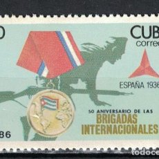 Selos: 3066 CUBA 1986 MNH THE 50TH ANNIVERSARY OF THE FORMATION INTERNATIONAL BRIGADES IN SPAIN THE ORDER,. Lote 220910937