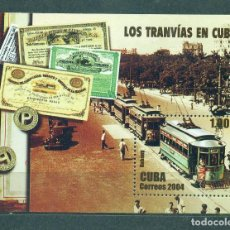 Selos: 4613-2 CUBA 2004 MLH TRAMS THE TRAINS, TRAMS. Lote 220911283