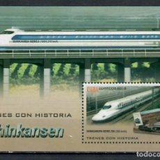Francobolli: 5248-2 CUBA 2009 MLH HIGH SPEED TRAINS THE TRAINS. Lote 220911348