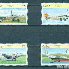 Selos: 3921 CUBA 1996 MLH STAMP EXHIBITION ESPAMER '96 AVIATION AND SPACE - SEVILLE, SPAIN AIRCRAFT. Lote 220911582