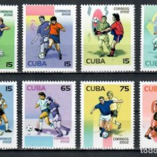 Selos: 4436-2 CUBA 2002 MLH FOOTBALL WORLD CUP - SOUTH KOREA AND JAPAN FOOTBALL, SOCCER WORLD CUP. Lote 220911648