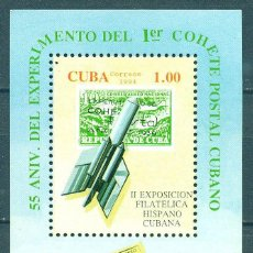 Selos: 3786-2 CUBA 1994 MLH THE 2ND SPANISH-CUBAN STAMP EXHIBITION STAMPS ON STAMPS, ROCKETS, POST SERVICES. Lote 220911878
