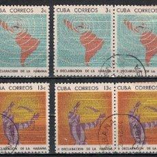Francobolli: 995-2 CUBA 1964 U THE 2ND DECLARATION OF HAVANA THE LAWS. Lote 220912567