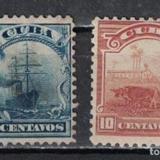 Sellos: 11-2 CUBA 1905 NG COUNTRY SCENES - RE-ENGRAVED WITHOUT WATERMARKED SHIPS. Lote 220912726