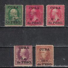 Sellos: 23 CUBA 1899 NG UNITED STATES POSTAGE STAMPS SURCHARGED PRESIDENTS. Lote 220912915