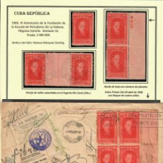 Sellos: KOL-207 CUBA 1946 FOUNDING OF MANUEL MARQUEZ STERLING SCHOOL OF JOURNALISM JOURNALISM, COLLECTIONS. Lote 220912997