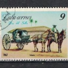 Selos: 1290 CUBA 1967 U STAMP DAY - CARRIAGES HORSES, STAMP DAY, CARTS. Lote 221011536