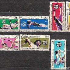 Sellos: 1311-2 CUBA 1967 U THE 5TH PAN-AMERICAN GAMES, WINNIPEG SPORT. Lote 221676221