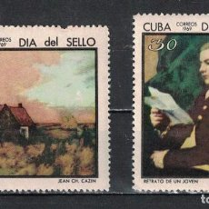 Sellos: 1465-3 CUBA 1969 MLH CUBAN STAMP DAY PAINTING, STAMP DAY. Lote 221676223
