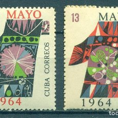 Sellos: 889-2 CUBA 1964 MLH THE LABOUR DAY HOLIDAYS. Lote 221676225