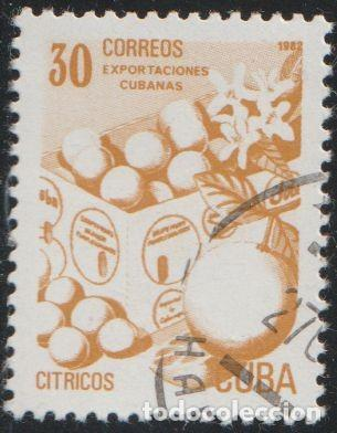 CUBA 1982 SCOTT 2491 SELLO * EXPORTACIONES FRUTAS CITRICOS MICHEL 2640 YVERT 2343 STAMPS TIMBRE (Sellos - Extranjero - América - Cuba)