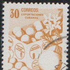 Sellos: CUBA 1982 SCOTT 2491 SELLO * EXPORTACIONES FRUTAS CITRICOS MICHEL 2640 YVERT 2343 STAMPS TIMBRE. Lote 222163133