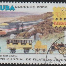 Sellos: CUBA 2006 SCOTT 4633 SELLO * TREN FERROCARRIL ROCKET AND INTERCITY DIESEL-ELECTRIC EXPO BELGICA 4862. Lote 222272912