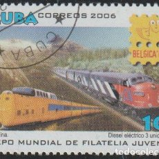 Sellos: CUBA 2006 SCOTT 4634 SELLO * TREN FERROCARRIL TURBINE LOCOMOTIVE, DIESEL-ELECTRIC LOCOMOTIVE M. 4863. Lote 235599795