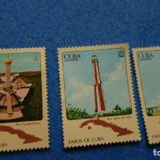 Sellos: CUBA: CIRCA 1980: SELLO IMPRESO EN CUBA MUESTRA IMAGEN DE FAROS DE CUBA,. Lote 223500342