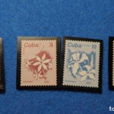 Sellos: 1983, SELLOS DE CUBA, SERIE COMPLETA SIN CIRCULAR, FLORES DE CUBA. Lote 223536081