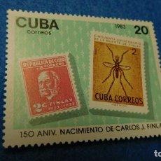 Sellos: 1983, CUBA, SELLOS CON MOSQUITO Y RETRATO DE CARLOS J. FINLAY, 150 ANIVERSARIO DE SU MUERTE, S/C. Lote 223536556