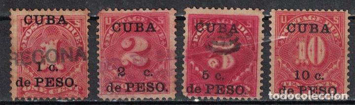 1 CUBA 1900 U UNITED STATES POSTAGE DUE STAMPS SURCHARGED (Sellos - Extranjero - América - Cuba)