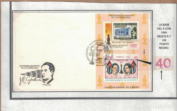 Sellos: kol-cu28 Cuba NG Postage stamps on the theme of chess - varieties. Rarity - Foto 2 - 226334360
