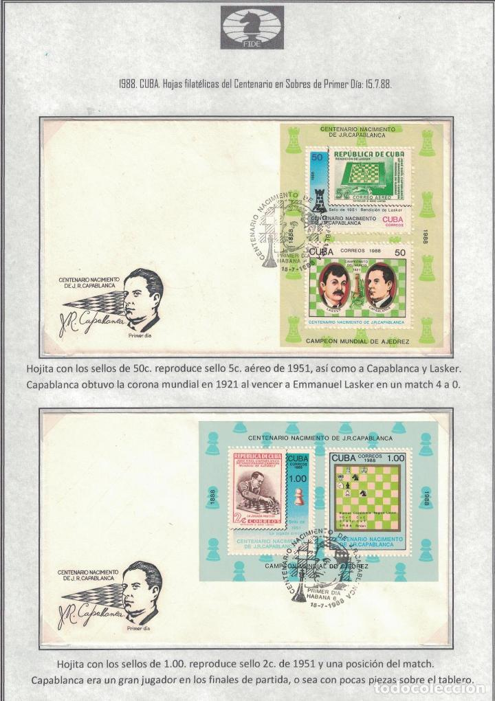 Sellos: kol-cu28 Cuba NG Postage stamps on the theme of chess - varieties. Rarity - Foto 3 - 226334360
