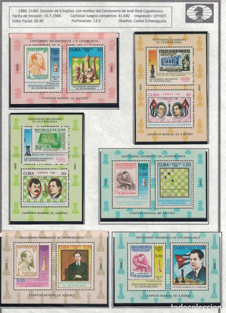 Sellos: kol-cu28 Cuba NG Postage stamps on the theme of chess - varieties. Rarity - Foto 7 - 226334360