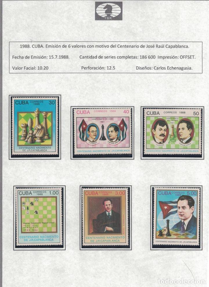 Sellos: kol-cu28 Cuba NG Postage stamps on the theme of chess - varieties. Rarity - Foto 8 - 226334360