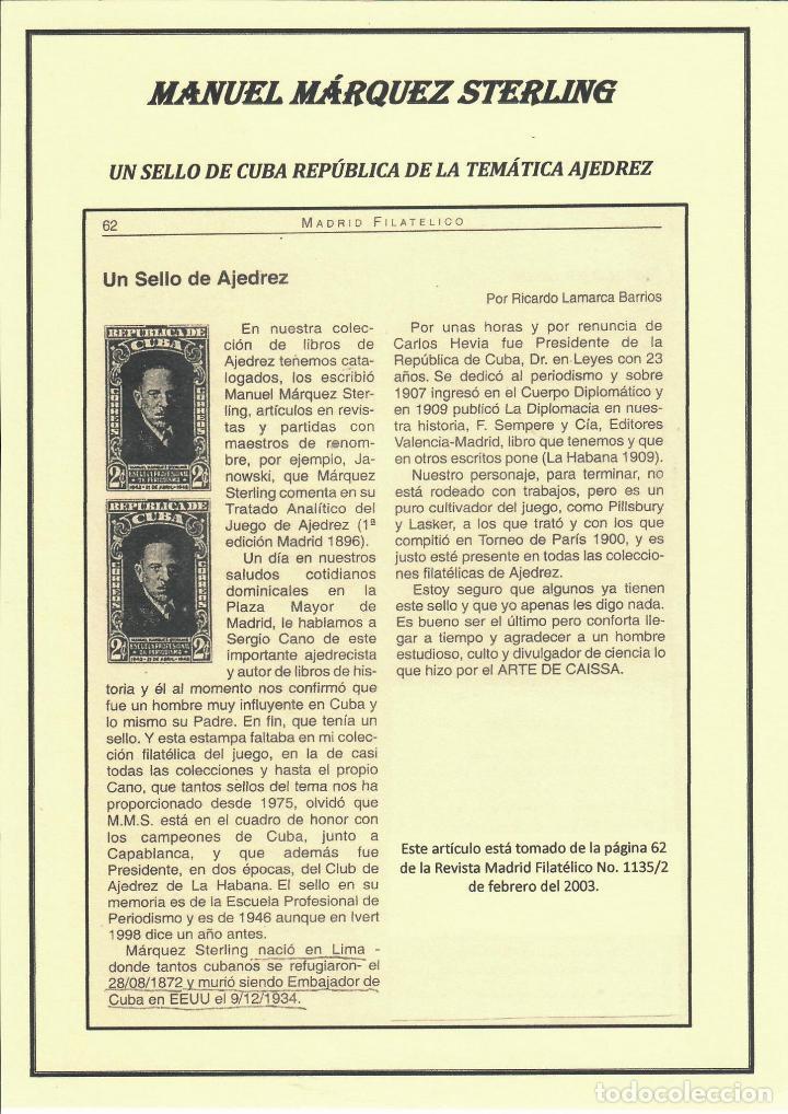 Sellos: kol-207 Cuba 1946 Founding of Manuel Marquez Sterling School of Journalism - Foto 2 - 226334468